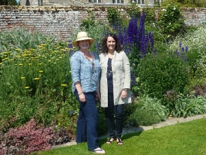 Fran and Colette at Coughton Court