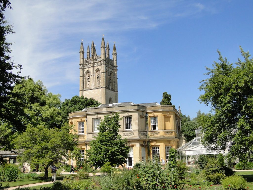 Oxford Botanic Garden, with Magdalen Tower credit VisitEngland