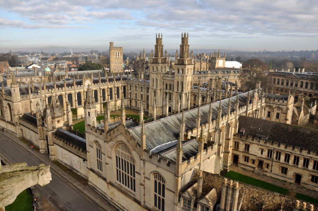 Aerial view of All Souls College - credit VisitEngland
