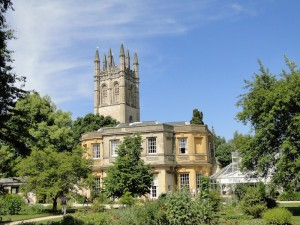 Oxford Botanic Garden with Magdalen Tower - copyright VisitEngland