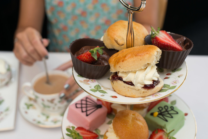 Afternoon tea at the Wedgwood factory - copyright VisitEngland