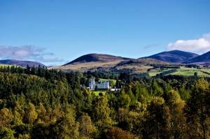 Blair Castle from a distance