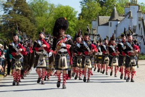 The Atholl Highlanders Parade held annually in May at Blair Castle, home of Europe's only legal private army, Blair Atholl, Perthshire Picture Credit : Paul Tomkins / VisitScotland