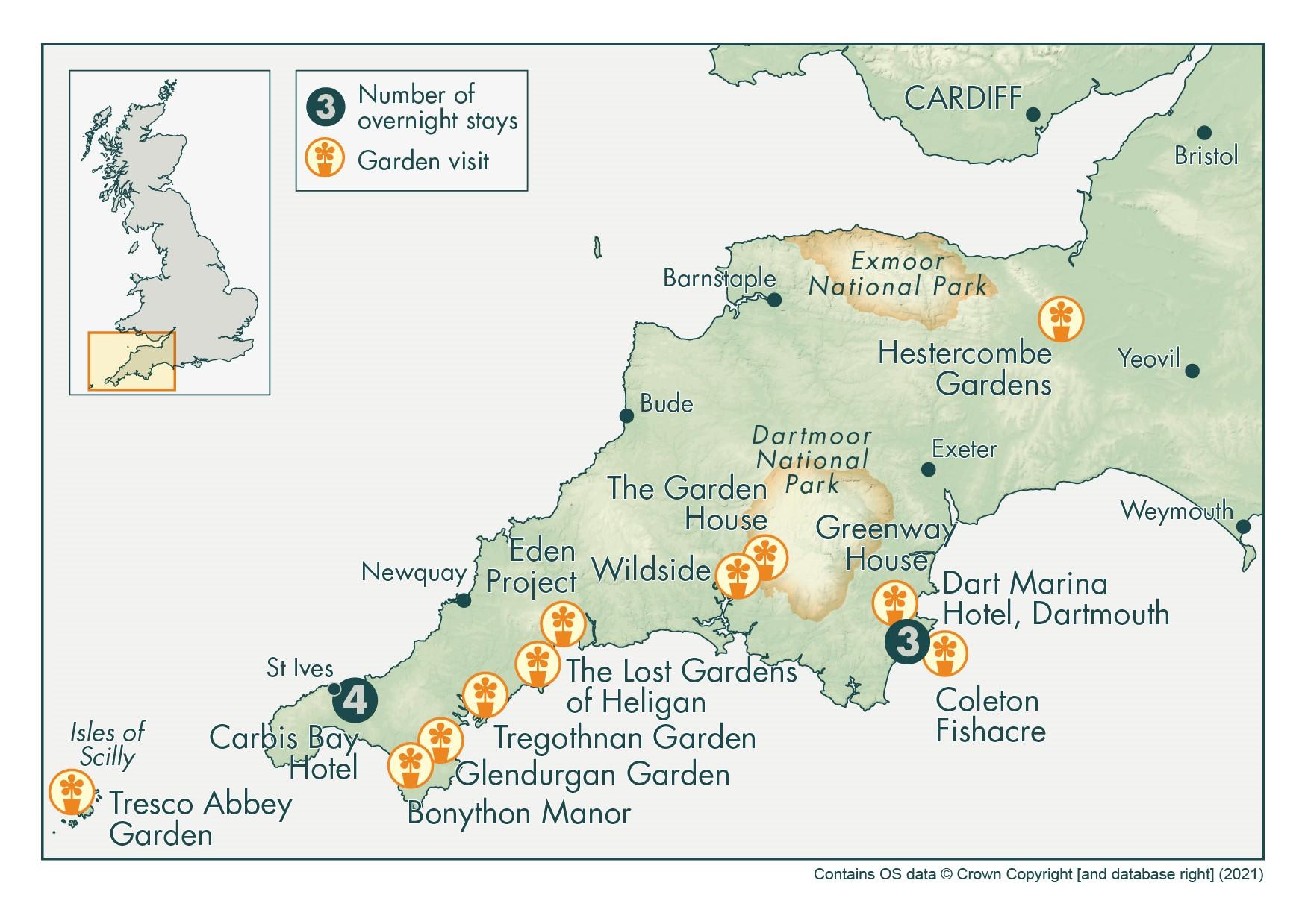 2021 Garden Gems Cornwall Devon Scilly final