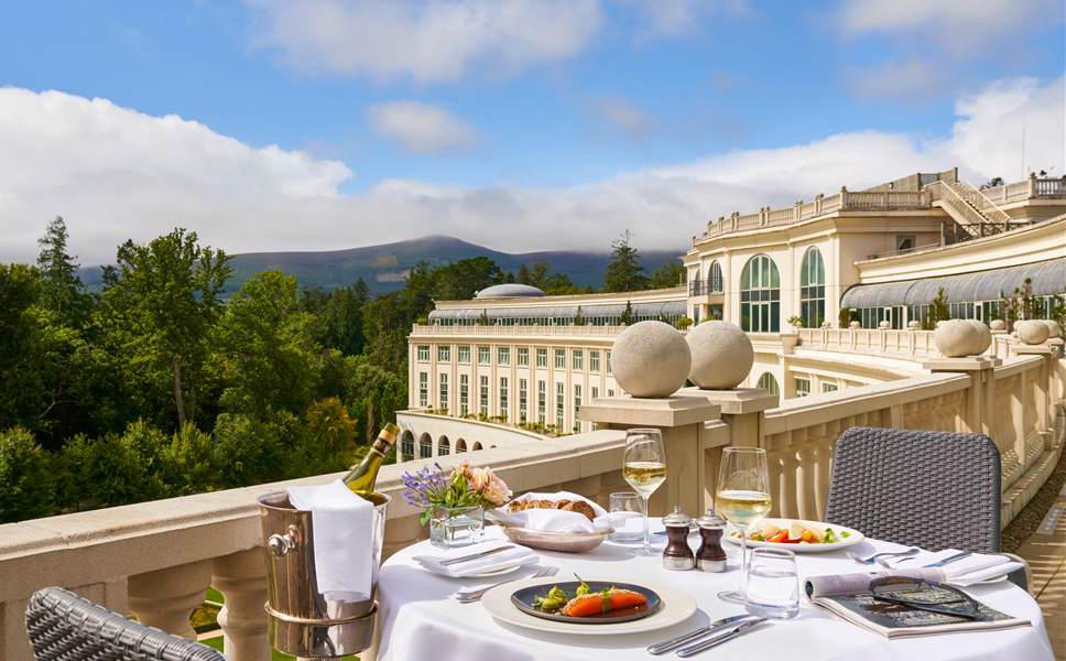 Powerscourt hotel terrace